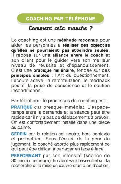 coacher par téléphone